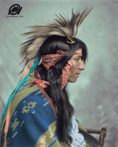 Cree man, Maple Creek, Saskatchewan, Canada, 1903