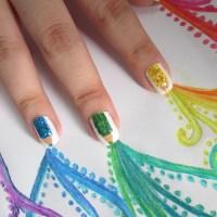 1° Post: Unhas de Lápis de cor!!