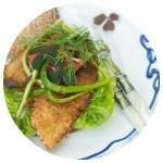 Fiskeburger med sprød fisk. Marinas Mad.