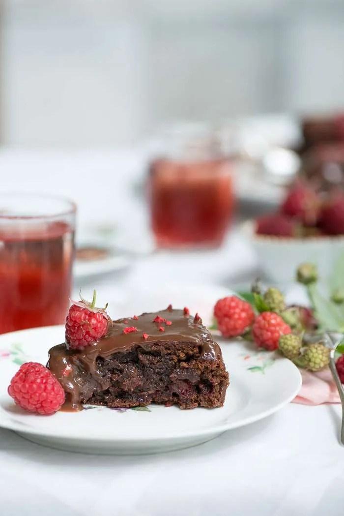 Opskrift hindbær brownie