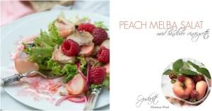 Peach melba salat