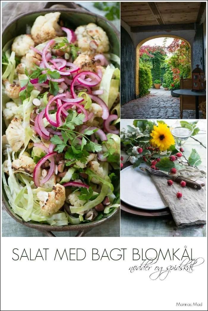 Salat med spidskål og blomkål