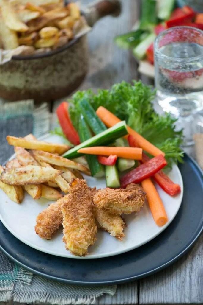 Hjemmelavede chicken nuggets