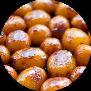 Brunede kartofler opskrift