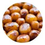 Brunede kartofler. Opskrift