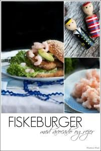 Fiskeburger med avocado