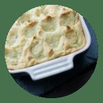 Opskrift på bagt kartoffelmos