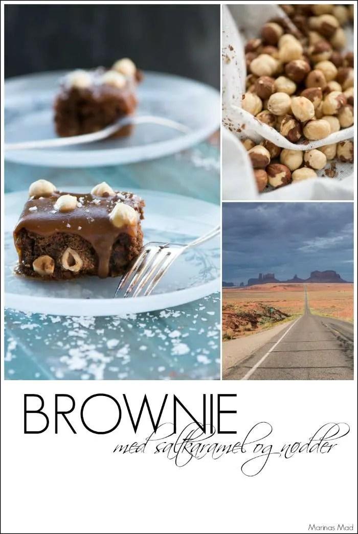 Lækker brownie med nødder og karamel. Opskrift