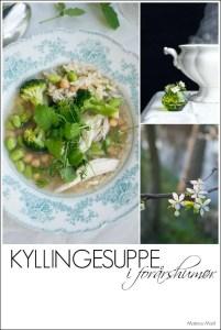 Opskrift på kyllingesuppe med ris og forårsgrønt