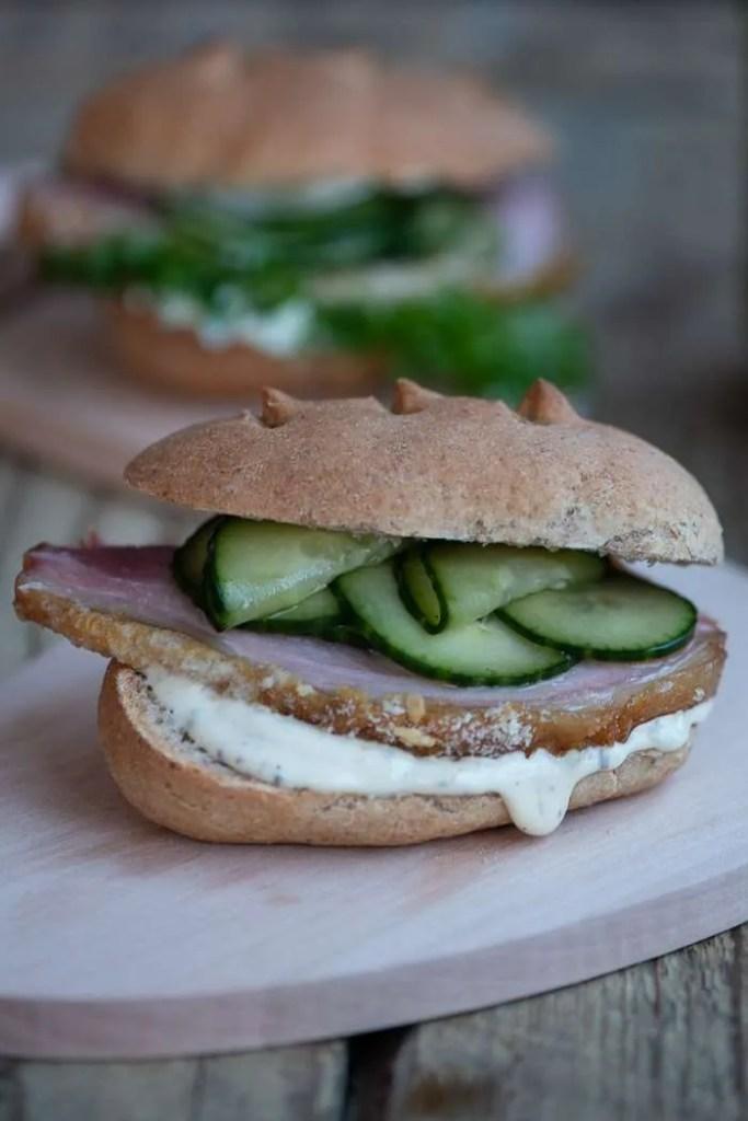 Hamburgerryg i sandwich