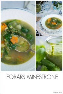 Minestrone med asparges. opskrift