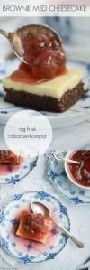 Cheesecake brownie opskrift