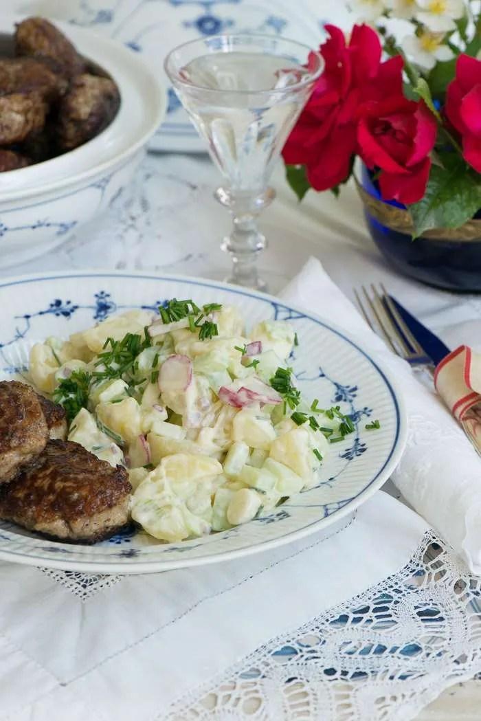 Opskrift på hjemmelavet kartoffelsalat