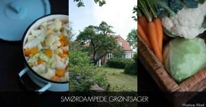 Smørdamped blomkål med gulerødder og spidskål