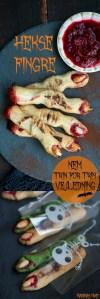 Halloween småkager. Heksefingre opskrift