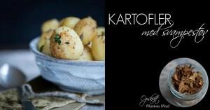 Lækre kartofler med svampestøv. Opskrift
