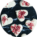 Opskrift på nemme marcipan hjerter