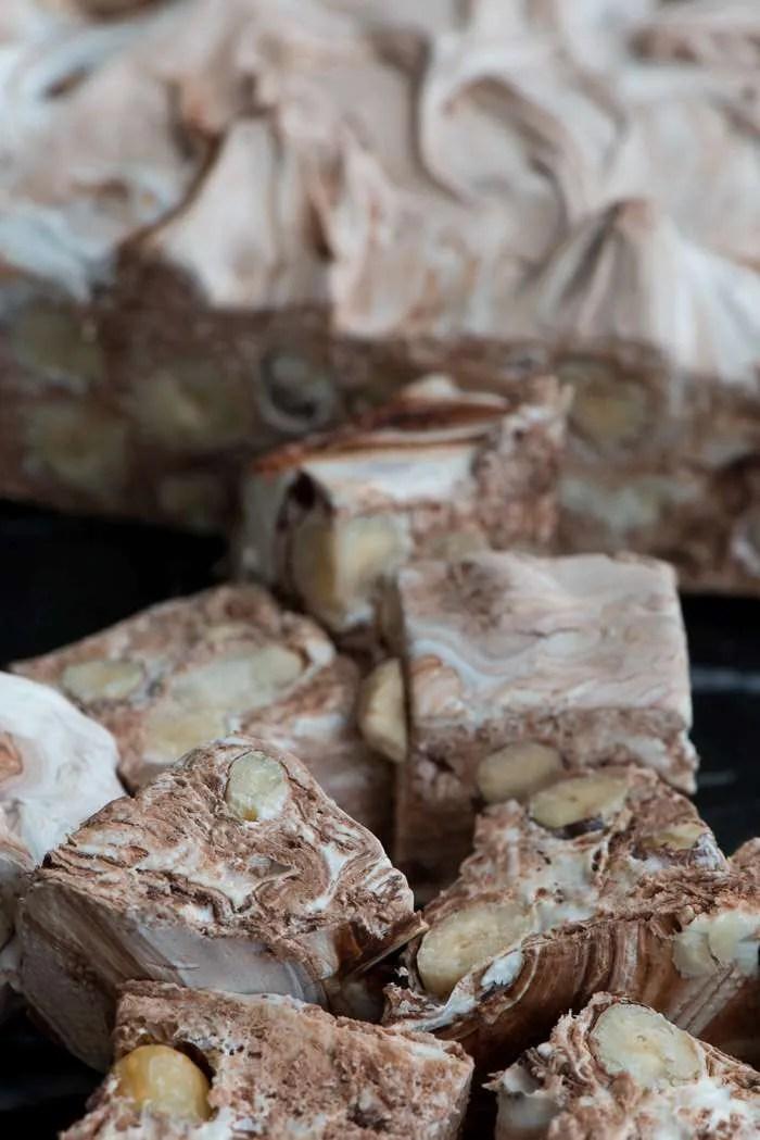 Fransk nougat med nødder
