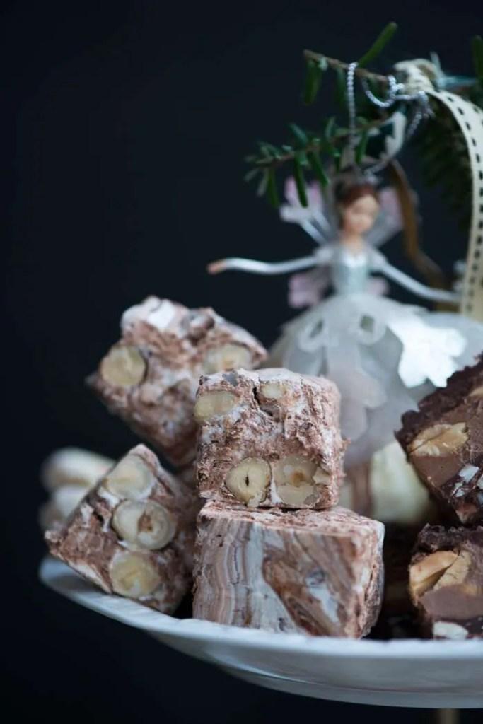Opskrift på frisk nougat med chokolade