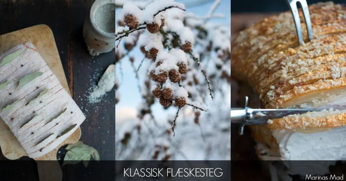 Opskrift på klassisk dansk flæskesteg med sovs og kartofler
