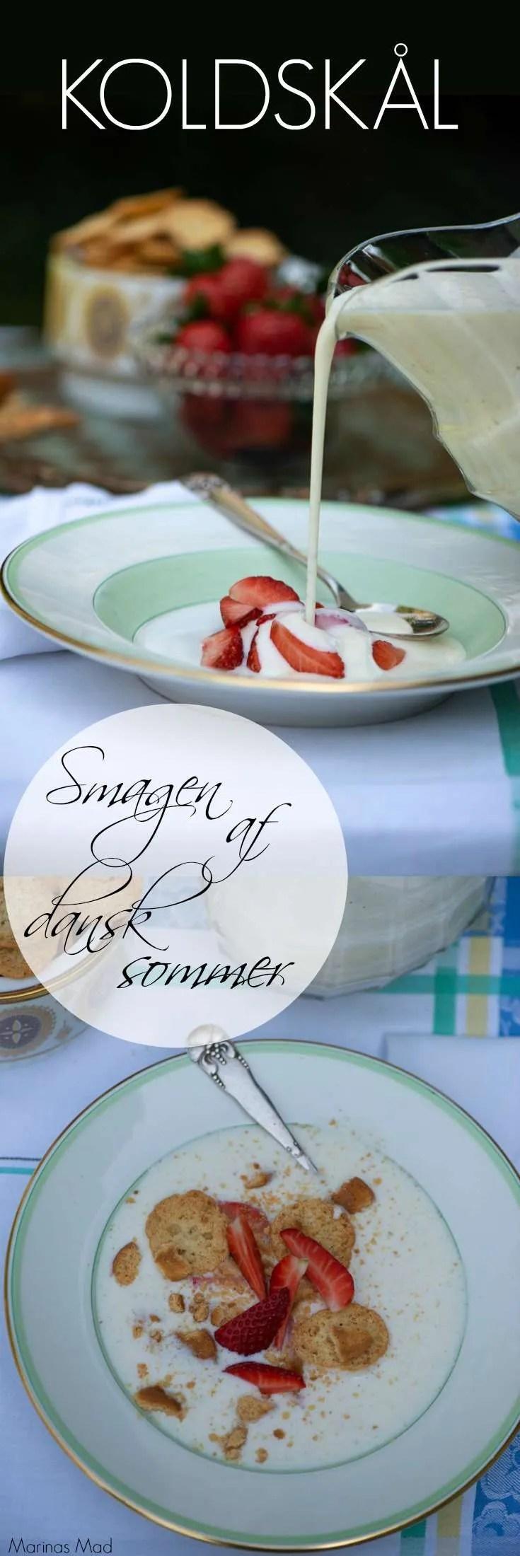 Hjemmelavet koldskål er så dejligt og smager virkeligt af sommer i Danmark. Server din kærnemælkskoldskål med kammerjunkere, koldskålsknas eller frisk frugt. Sommer dessert opskrift fra Marinas Mad