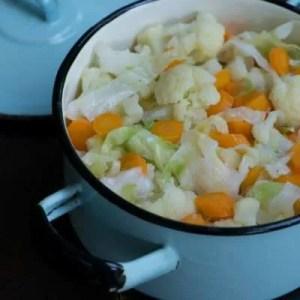 Marinas opskrift på smørdampede grøntsager