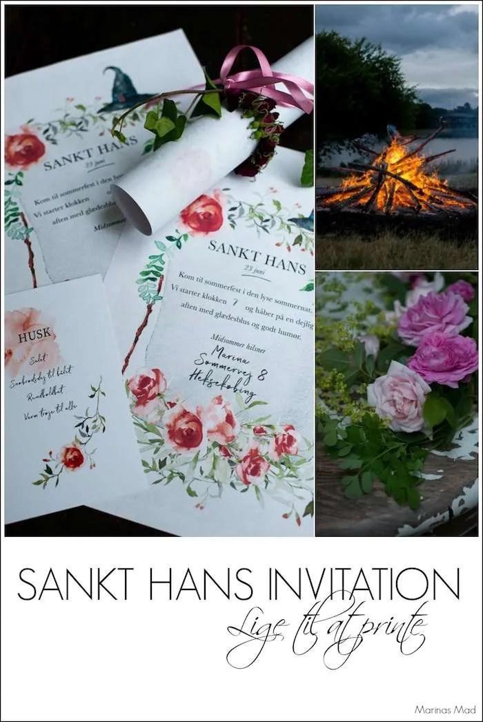 Gratis Sankt Hans invitationer til print