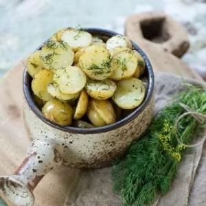 Marinas opskrift på kartofler med dild