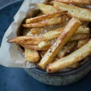 Ovnbagte pommes frites. Opskrift fra Marinas Mad