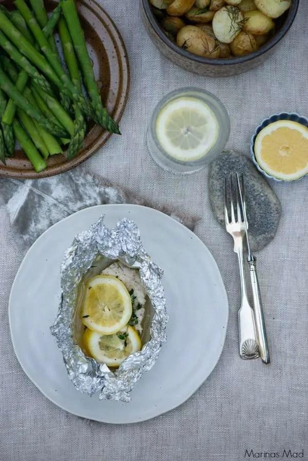 Opskrift på fisk med hyldeblomst og citron