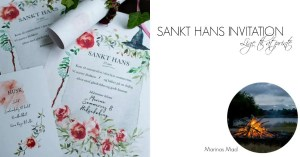 Gratis Sankt Hans invitation lige til at printe