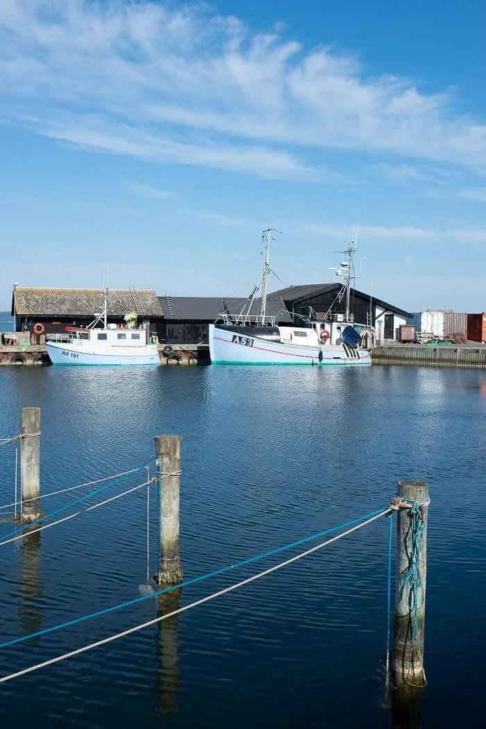 Den lille fiskerihavn i Ebeltoft