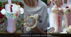 Opskrift på overdådige jordbær milkshakes