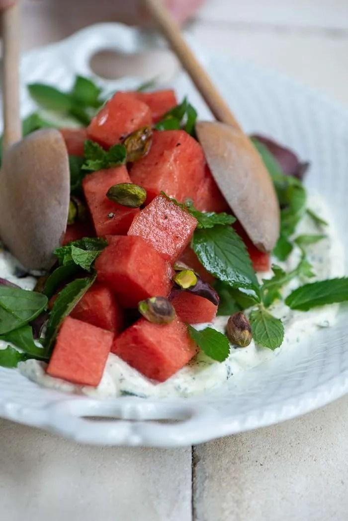 Opskrift på vandmelonsalat med fetacreme