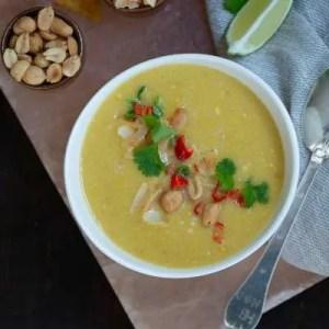 Marinas opskrift på majssuppe med kokosmælk og chili