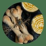 Opskrift på knogle brød til halloween