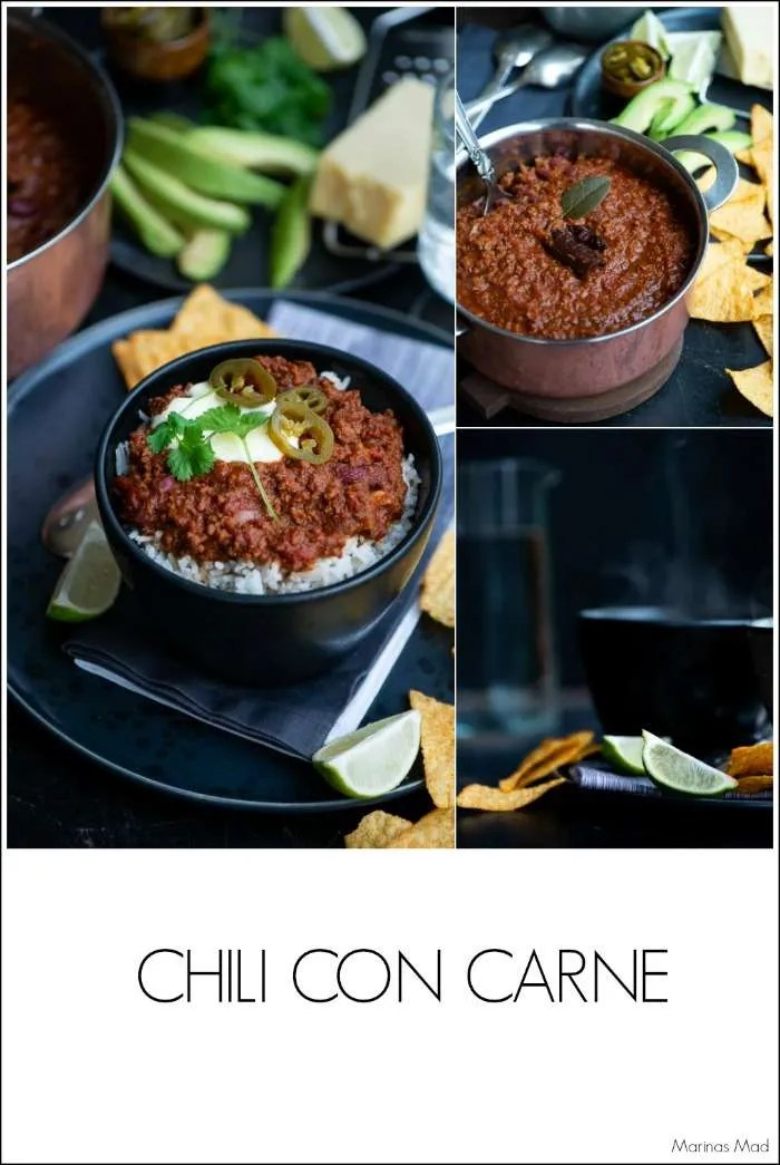 Opskrift på Chili Con Carne med hakket oksekød og bønner