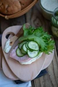 Hjemmelavede sandwich med hamburgerryg