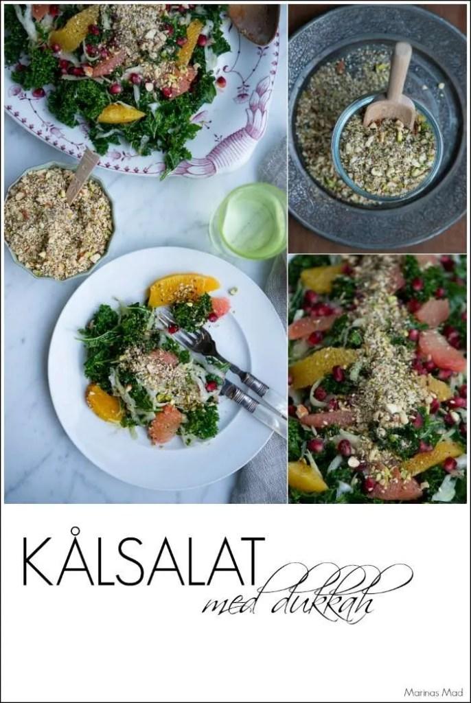 Kålsalat med granatæble og dukkah | Marinas mad