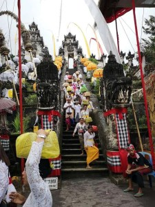 Tempel ceremoni på Bali