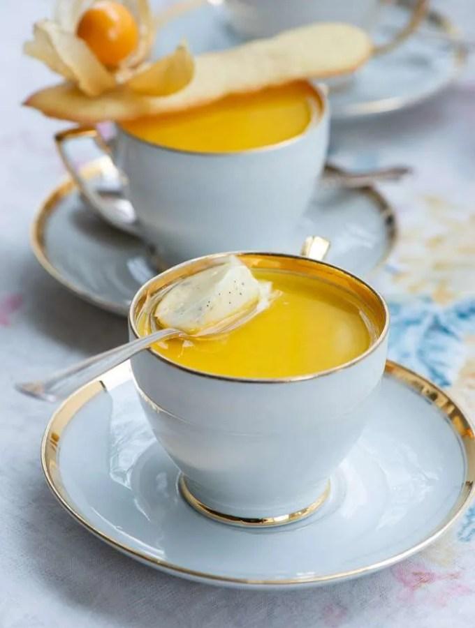 Opskrift på panna cotta al limone