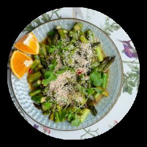 Opskrift på aspargesret i wok
