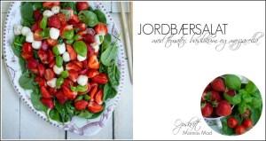 Opskrift på sommersalat med jordbær