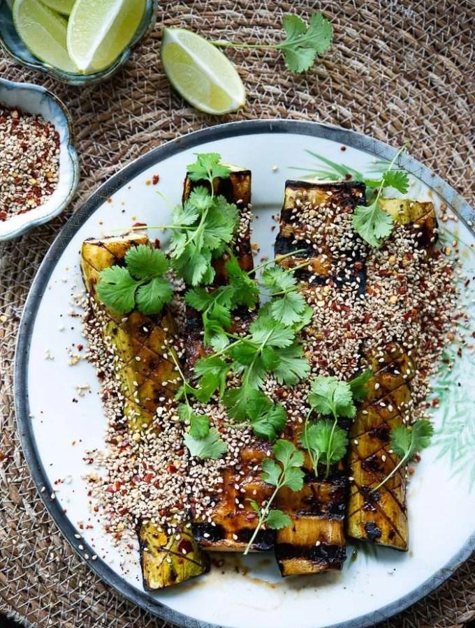 Opskrift på spicy grillede squash