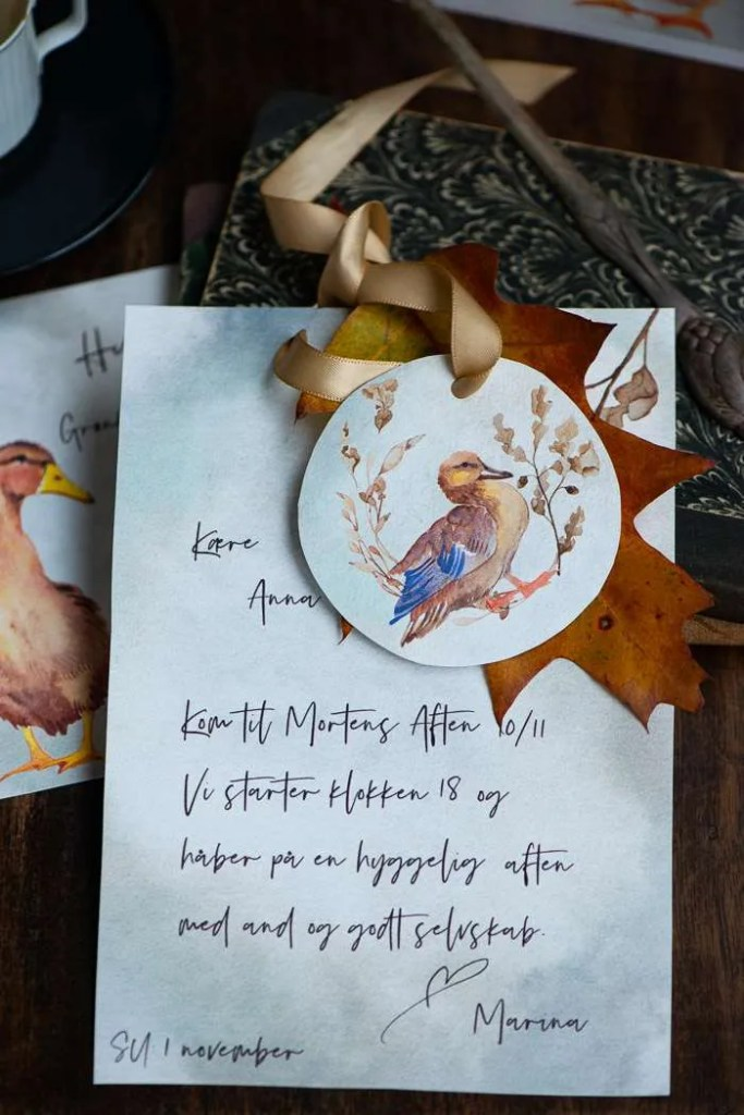 Print en invitation til Mortensaften