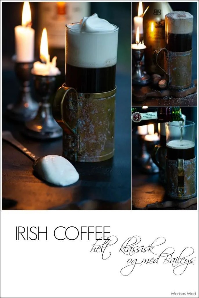 Irish Coffee helt klassisk og med baileys