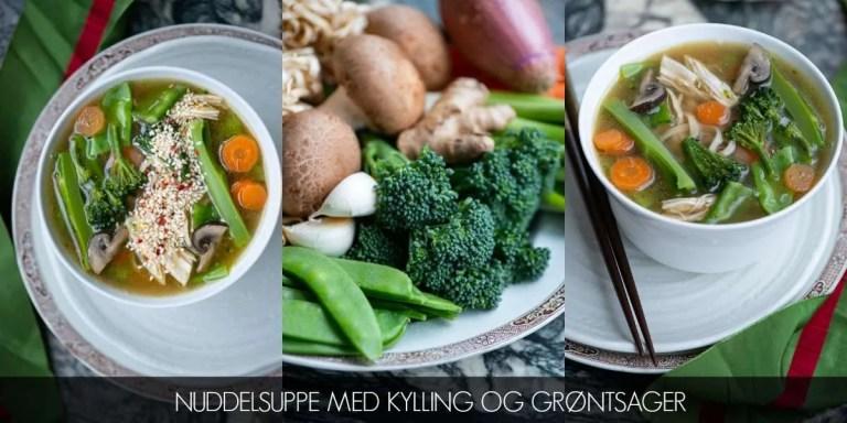 Nuddelsuppe med kylling og grøntsager