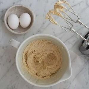 Smør rørt cremet med sukker