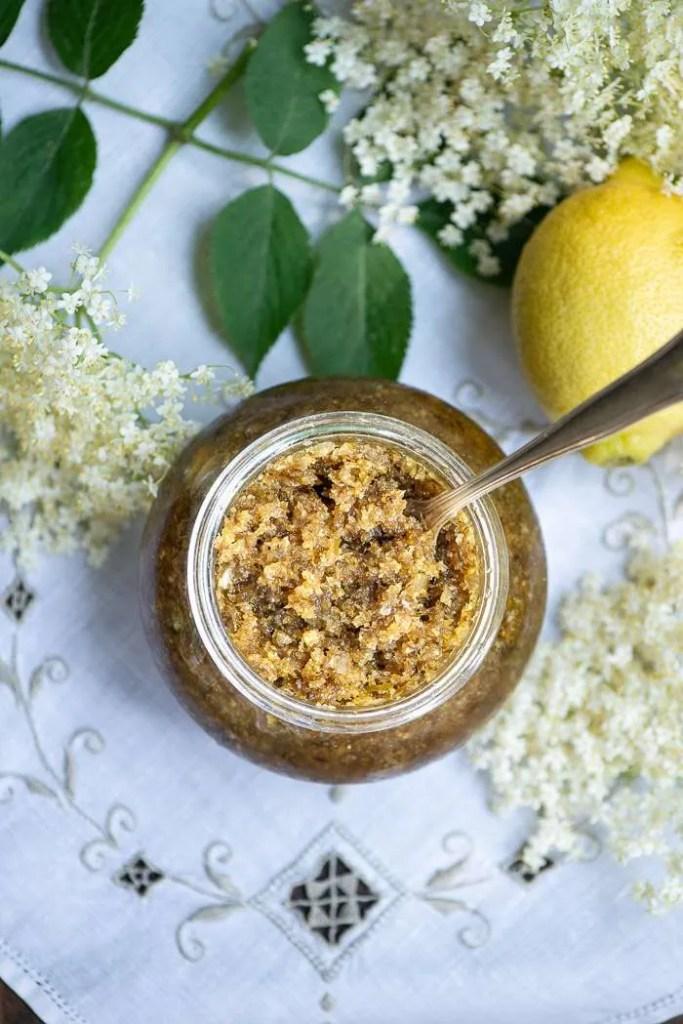 Opskrift på hyldeblomst marmelade med citron