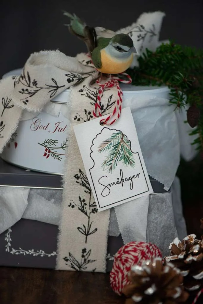 Småkage dåser med julesmåkager
